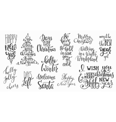Christmas lettering huge big typography set vector