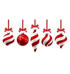 Christmas Red Balls vector image