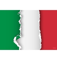 Design flag italy from torn papers with shadows vector