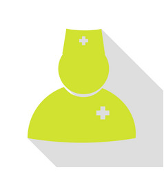 Doctor sign pear icon with flat vector