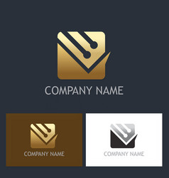 document technology business logo vector image