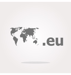Domain EU sign icon Top-level internet domain vector image vector image