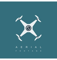 drone logo template vector image vector image
