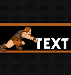 dwarf pushing text vector image vector image