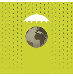 Earth under umbrella vector image vector image