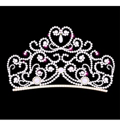 Feminine wedding diadem vector