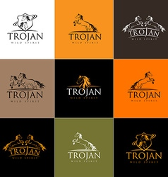 Horse Logo Horse Icon Badge Emblem vector image vector image