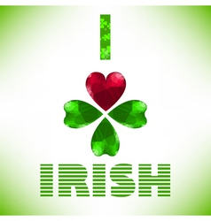 I love irish vector