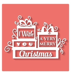 I wish you a very Merry Christmas vector image vector image