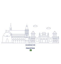 karachi city skyline vector image