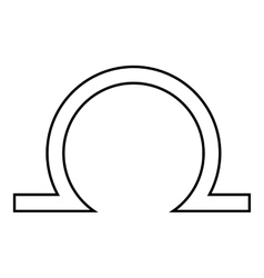 Libra icon outline style vector
