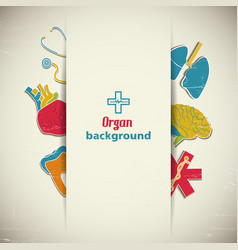 medical organ background vector image