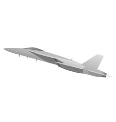 modern military fighter jet aircraft vector image