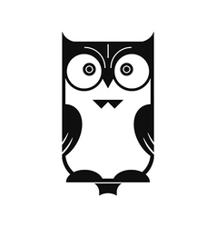 Owl Black Silhouette vector image