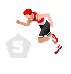 Pentathlon 2016 sports 3d isometric vector