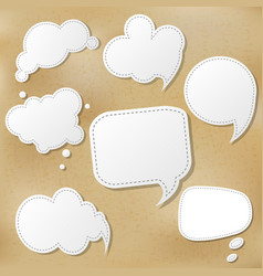 retro speech bubble set vector image vector image