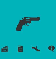 Revolver icon flat vector
