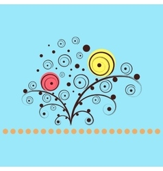 Shining flowers circle background vector