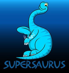 Supersaurus cute character dinosaurs vector image
