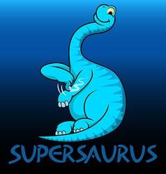 Supersaurus cute character dinosaurs vector
