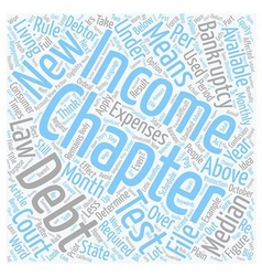 The new bankruptcy law text background wordcloud vector