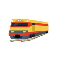 Yellow cargo railway train locomotive vector