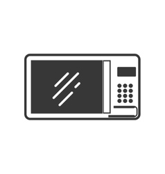 Microwave supply house electric appliance icon vector