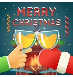 Christmas with santa claus celebration success and vector