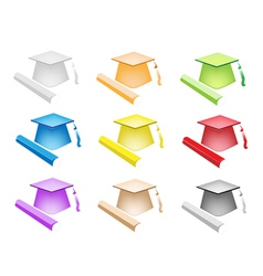 Set of Diploma and Graduation vector image