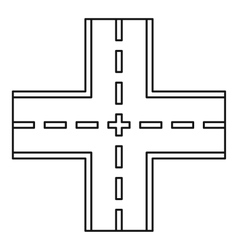Crossing road icon outline style vector
