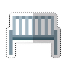Garden chair isolated icon vector