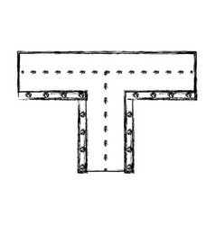 Road intersection isolated icon vector