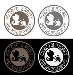 Logo for handycrafts store vector