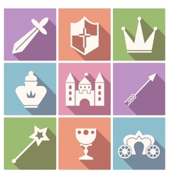 Tale icon set vector