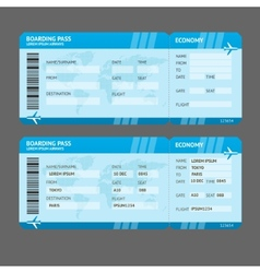 Modern airline boarding pass tickets vector