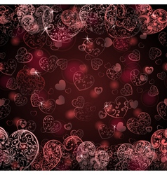 Background of hearts vector