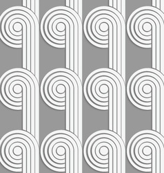 Paper cut out circles with continues stripes on vector