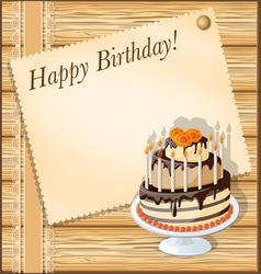Birthday wood vector