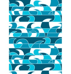 Abstract blue waves background pattern vector