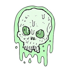 Comic cartoon slimy skull vector