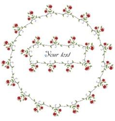 Spring flowers frames vector image