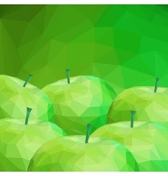 Apple low poly background vector