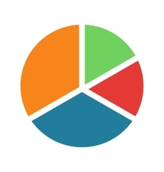 Pie chart pieces vector