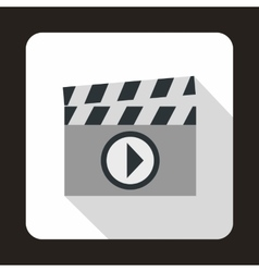 Clapboard icon in flat style vector