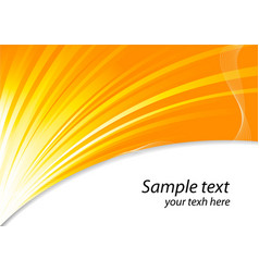 Background in orange color vector image vector image