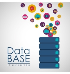 data base design vector image