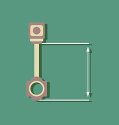 flat icon design collection car piston and arrows vector image vector image
