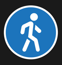 footpath sign flat icon traffic and road sign vector image