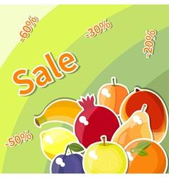fruit sale vector image