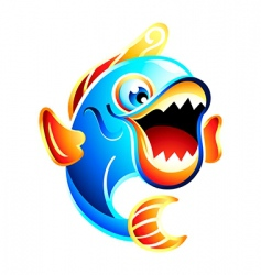 fun fish vector image vector image
